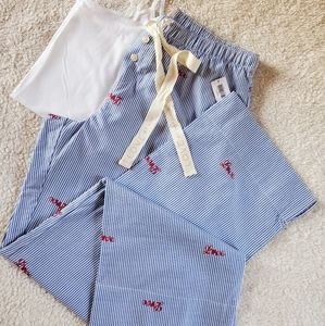 Gap Print  Pajama Pants in Poplin, Small